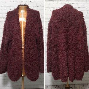 Kensie Open Front Fuzzy Cardigan EUC